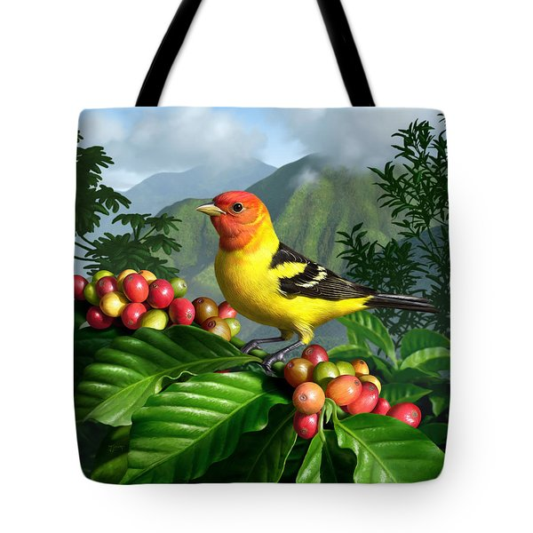 Western Tanager Tote Bag by Jerry LoFaro