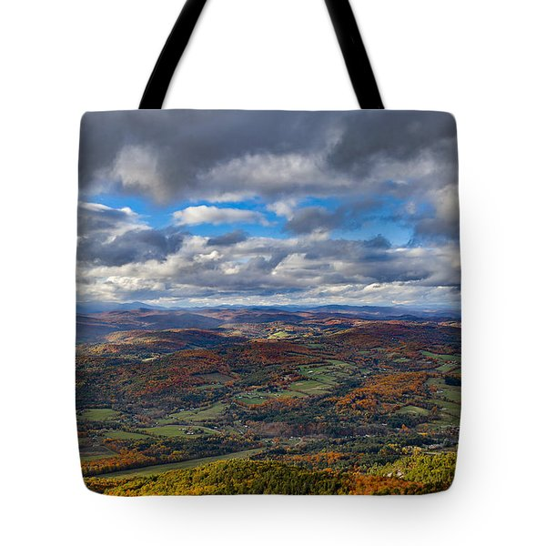 Western View From Mt Ascutney Tote Bag
