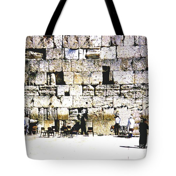 Tote Bag featuring the photograph Western Wall - Israel by Merton Allen