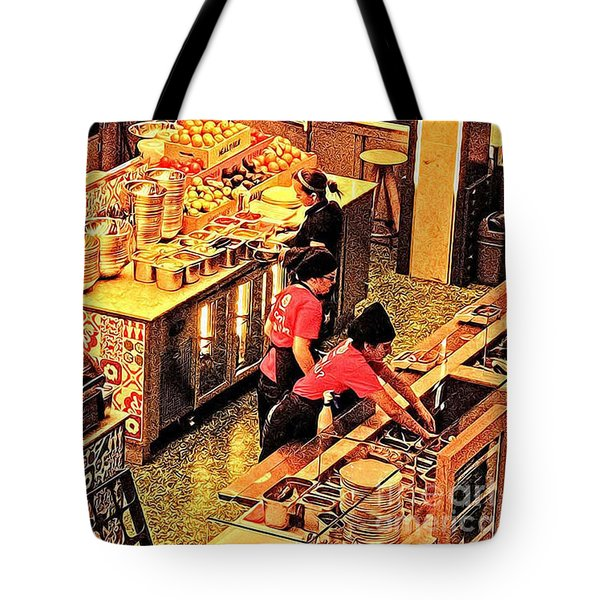 Tote Bag featuring the photograph Westfield Golden Glow by Jack Torcello