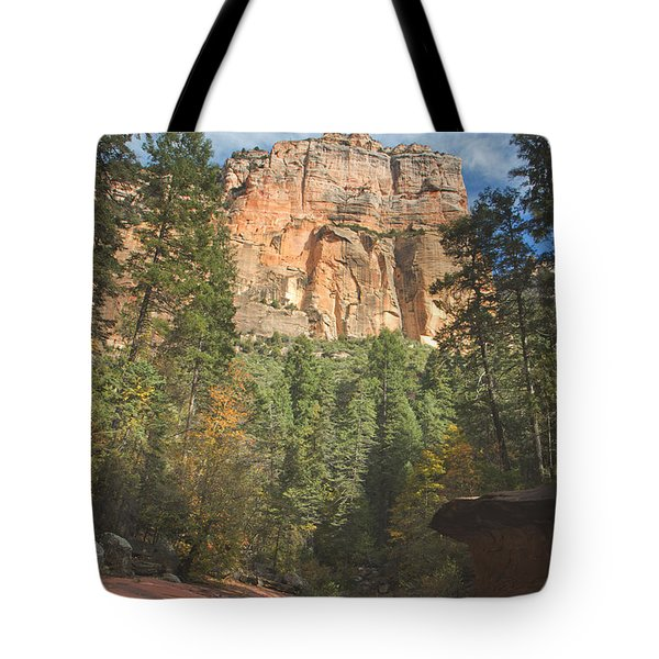 Tote Bag featuring the photograph Westfork Trail by Tom Kelly
