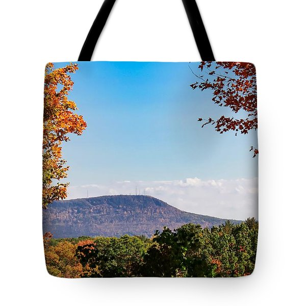 Tote Bag featuring the photograph Westhampton View Of Mount Tom by Sven Kielhorn
