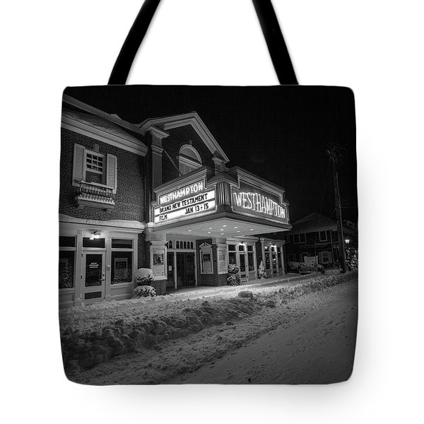 Westhampton Winter Night Tote Bag