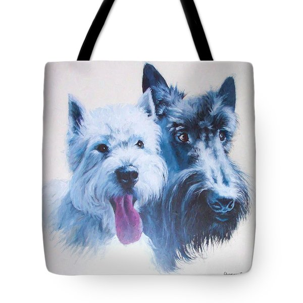 Westie And Scotty Dogs Tote Bag