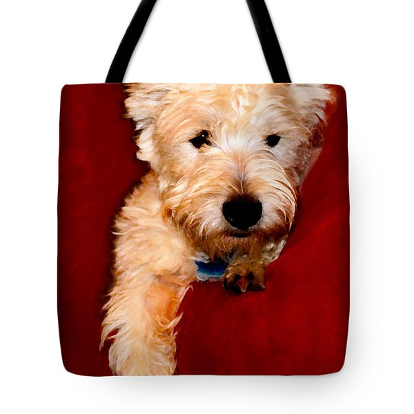 Westie Boy Tote Bag