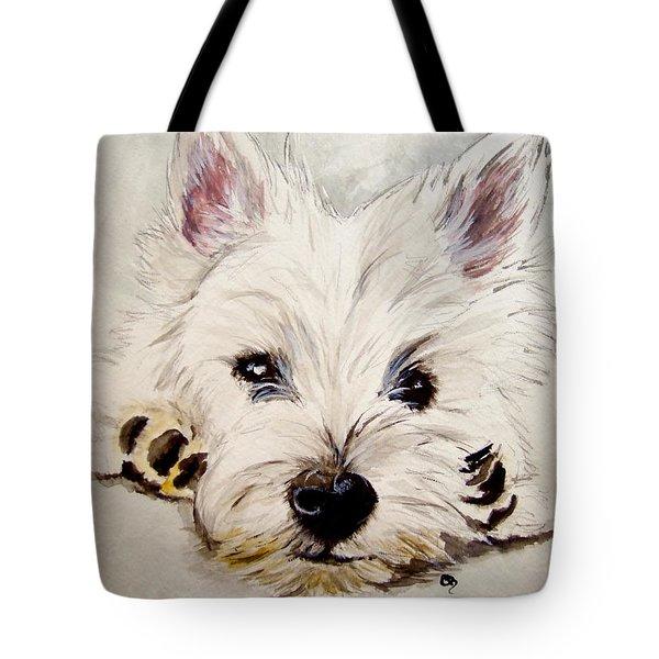 Westie Tote Bag by Carol Blackhurst