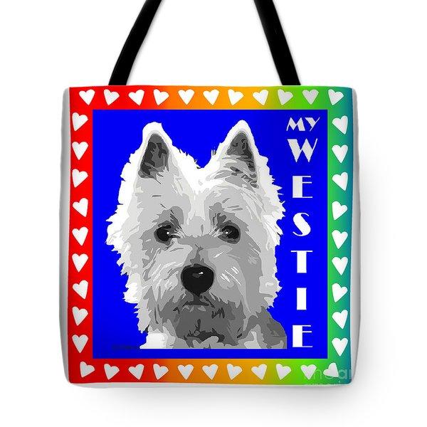 Westie Tshirt Tote Bag