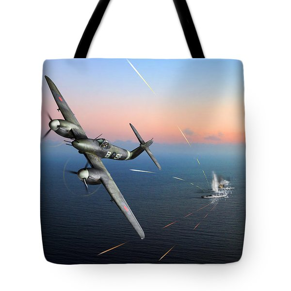 Tote Bag featuring the photograph Westland Whirlwind Attacking E-boats by Gary Eason