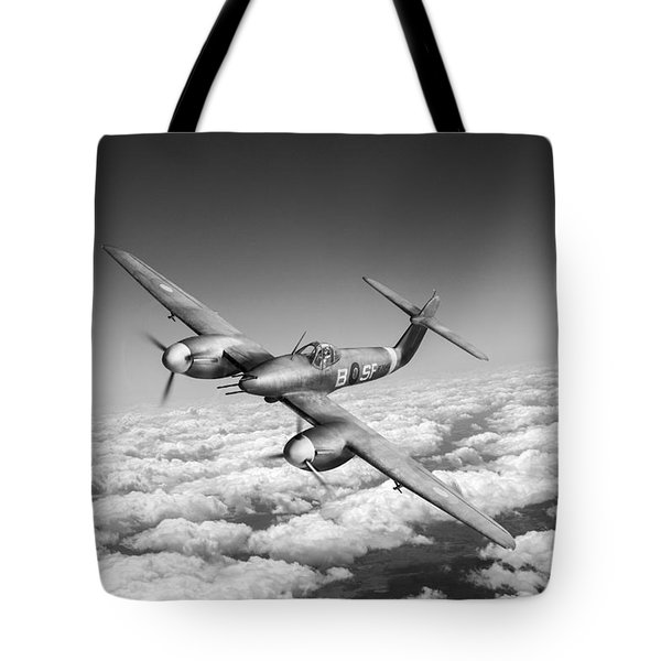 Tote Bag featuring the photograph Westland Whirlwind Portrait Black And White Version by Gary Eason