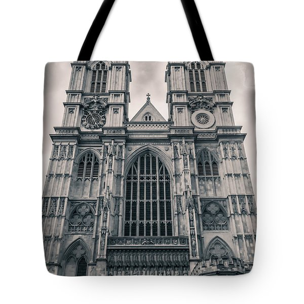Westminister Abbey Bw Tote Bag