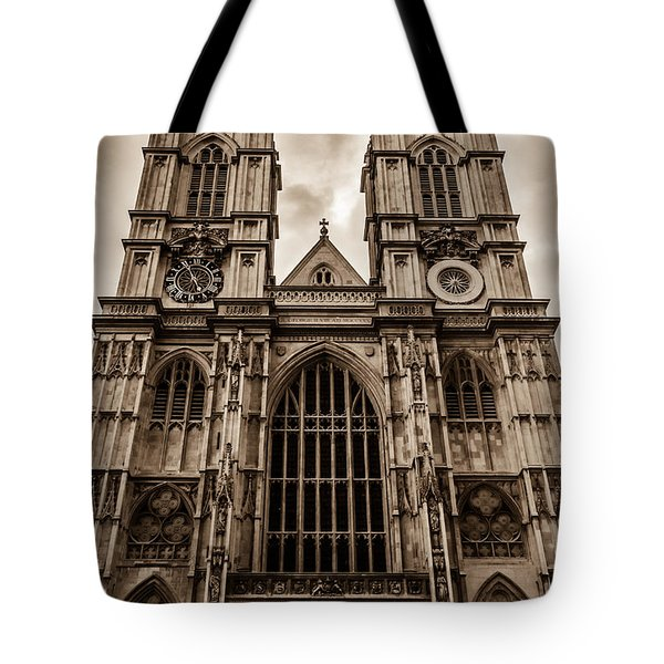 Westminister Abbey Sepia Tote Bag