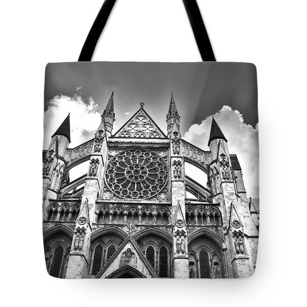 Westminster Abbey Under The Clouds And Rays Tote Bag