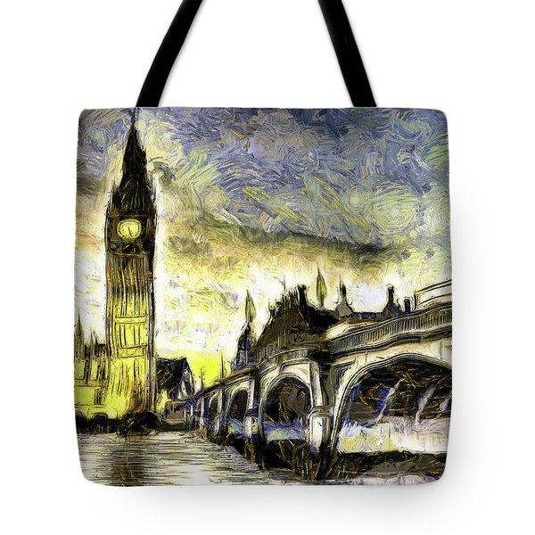 Westminster Bridge Van Gogh Tote Bag