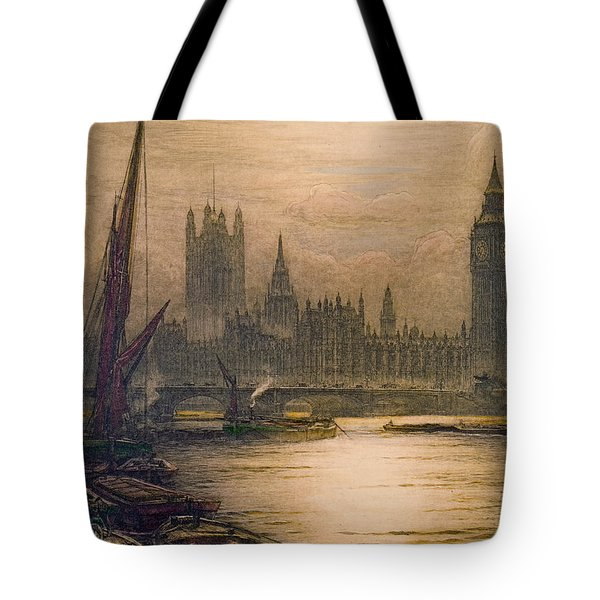 Westminster London 1920 Tote Bag by Padre Art