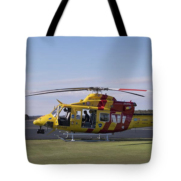 Tote Bag featuring the photograph Westpac Rescue Helicopter 0001 by Kevin Chippindall