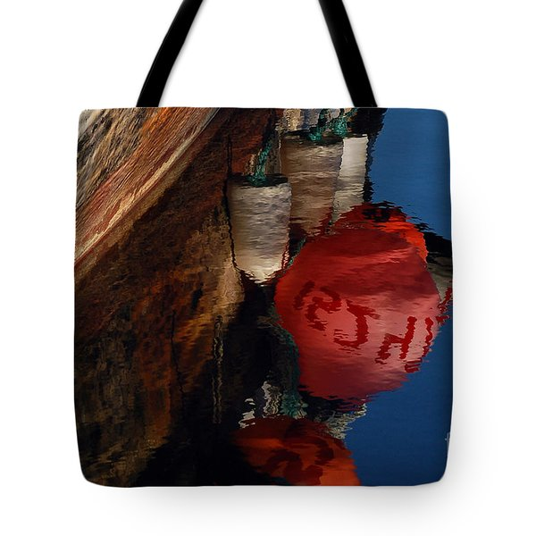Bouy Reflection Tote Bag by Chuck Flewelling