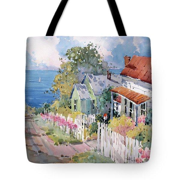 Westport By The Sea Tote Bag by Joyce Hicks