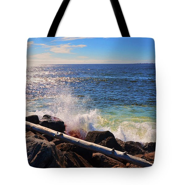 Westport Waves Tote Bag