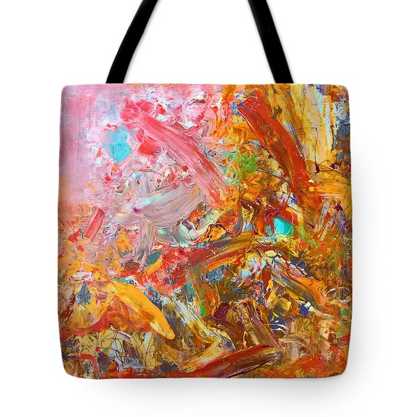 Wet Abstract #91517 Tote Bag