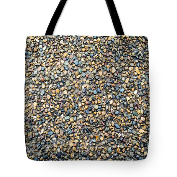 Wet Beach Stones Tote Bag