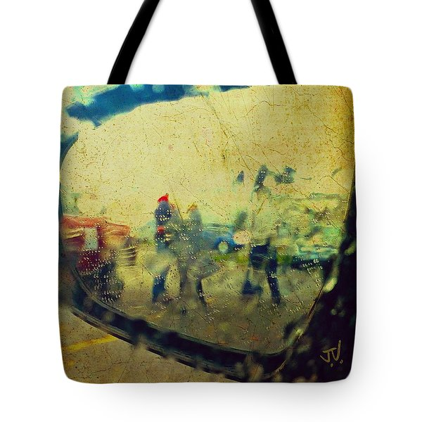 Wet Day Reflections Tote Bag