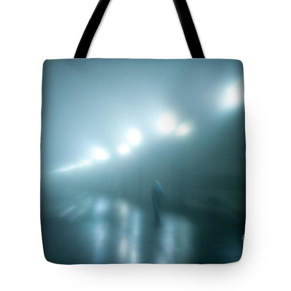 Wet Foggy Night Tote Bag by John Greim