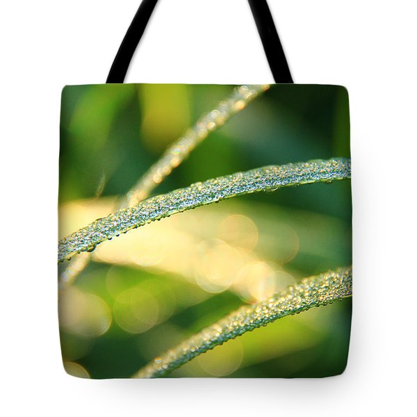 Wet Grass Tote Bag