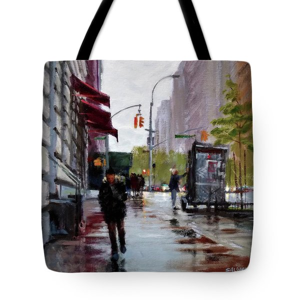 Wet Morning, Early Spring Tote Bag by Peter Salwen