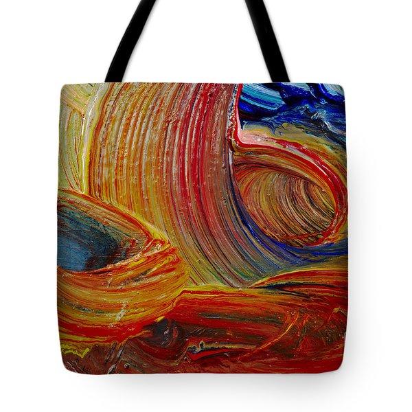 Wet Paint - Run Colors Tote Bag by Michal Boubin