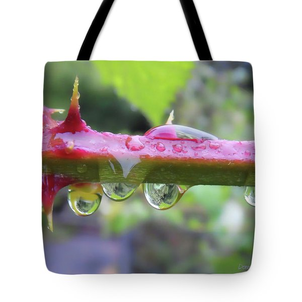 Wet Prick Tote Bag by Donna Blackhall