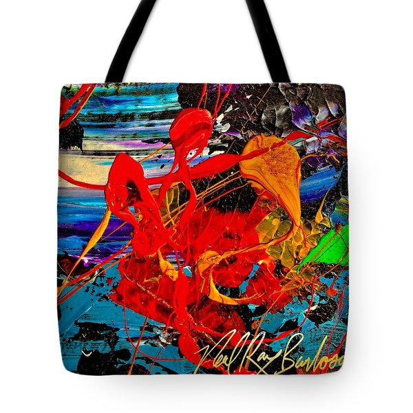 Wet Sunset Tote Bag