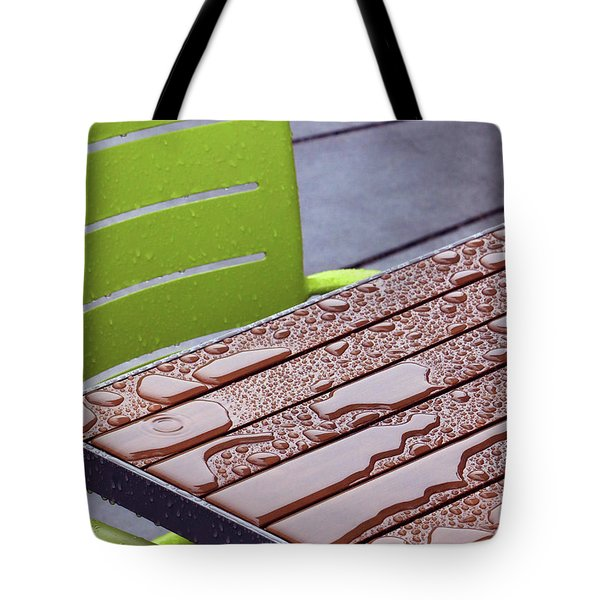 Wet Table Tote Bag by Christopher McKenzie