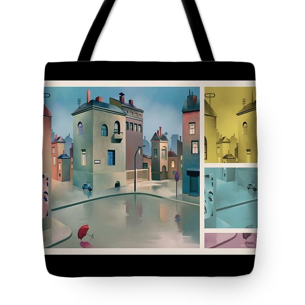 Wet Town Tote Bag