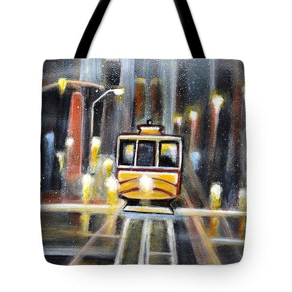 Wet Tram California Tote Bag