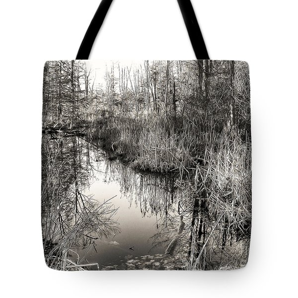 Wetland Essence Tote Bag by Betsy Zimmerli