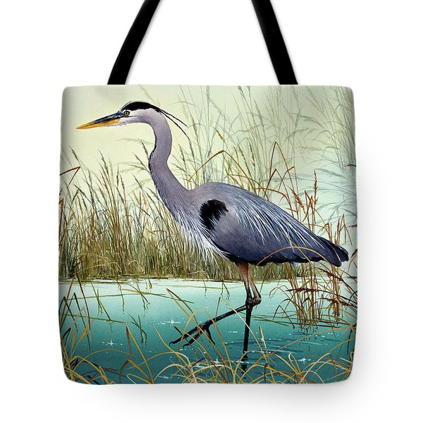 Tote Bag featuring the painting Wetland Beauty by James Williamson