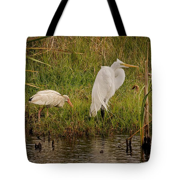 Wetland Birds Tote Bag
