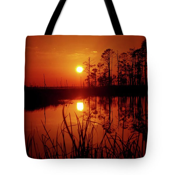 Tote Bag featuring the photograph Wetland Sunset by Robert Geary