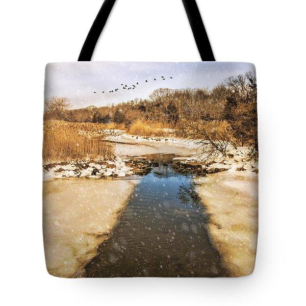 Wetland Winter Tote Bag