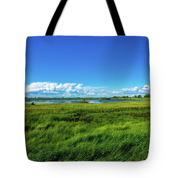 Wetlands On A Windy Spring Day Tote Bag