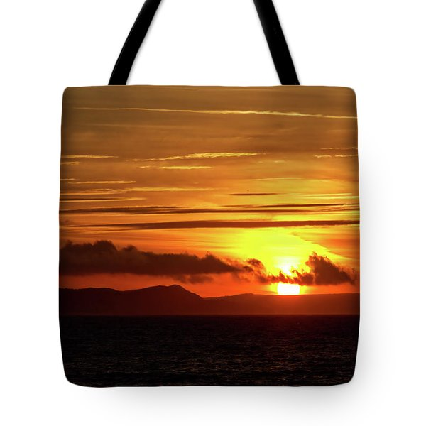 Tote Bag featuring the photograph Weymouth Sunrise by Baggieoldboy