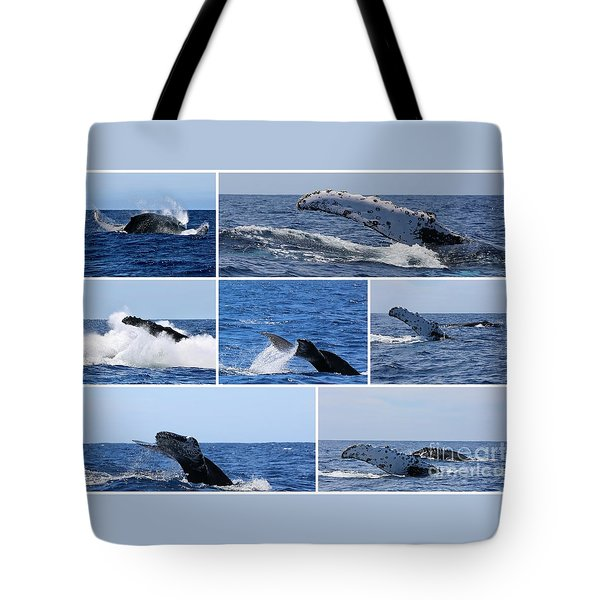 Whale Action Tote Bag