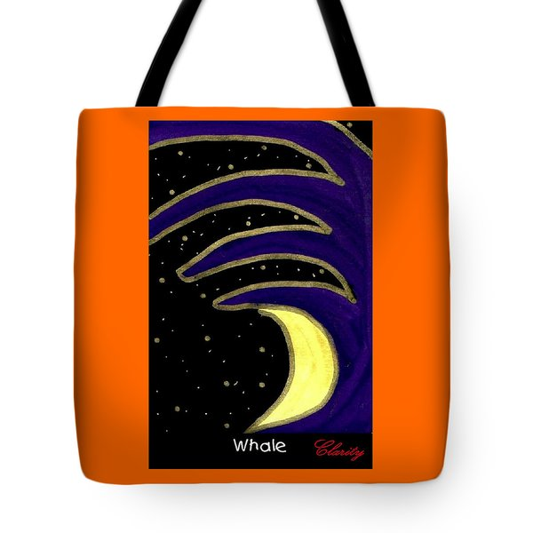 Tote Bag featuring the painting Whale by Clarity Artists