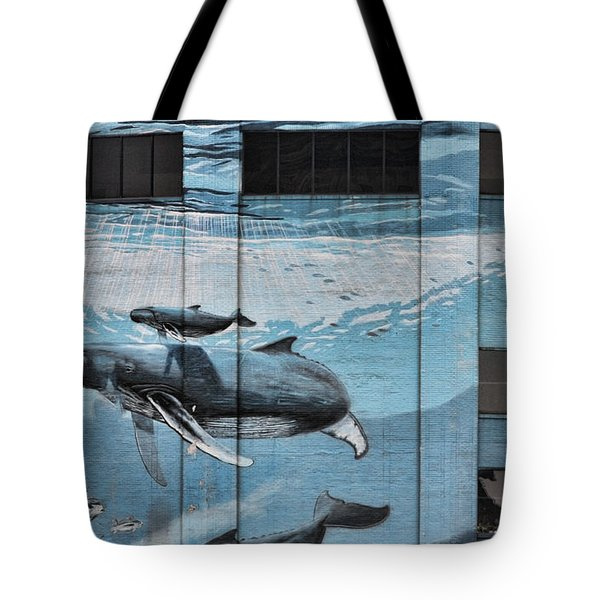 Whale Deco Building  Tote Bag