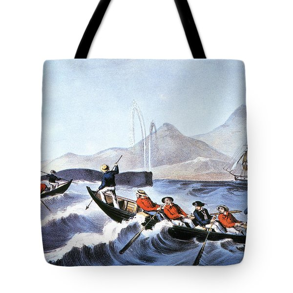 Whale Fishery, Laying On Tote Bag by Granger