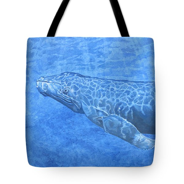 Whale In Surface Light Tote Bag
