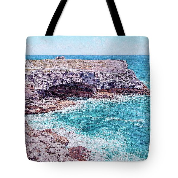 Whale Point Cliffs Tote Bag
