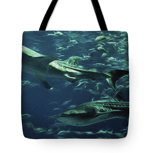 Whale Shark Couple Tote Bag