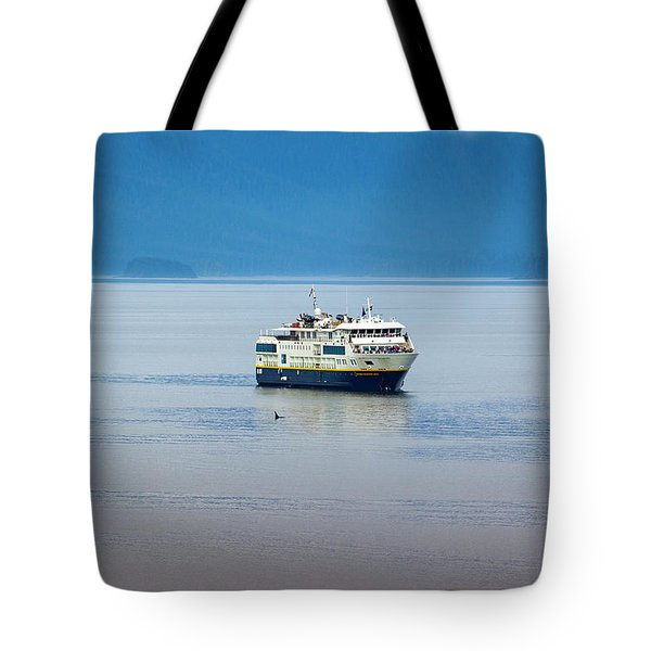 Whale Watching In Glacier Bay Tote Bag
