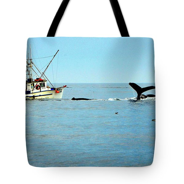 Whale Watching Moss Landing Series 26 Tote Bag